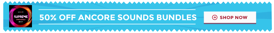 50 percent off ancore sounds bundles