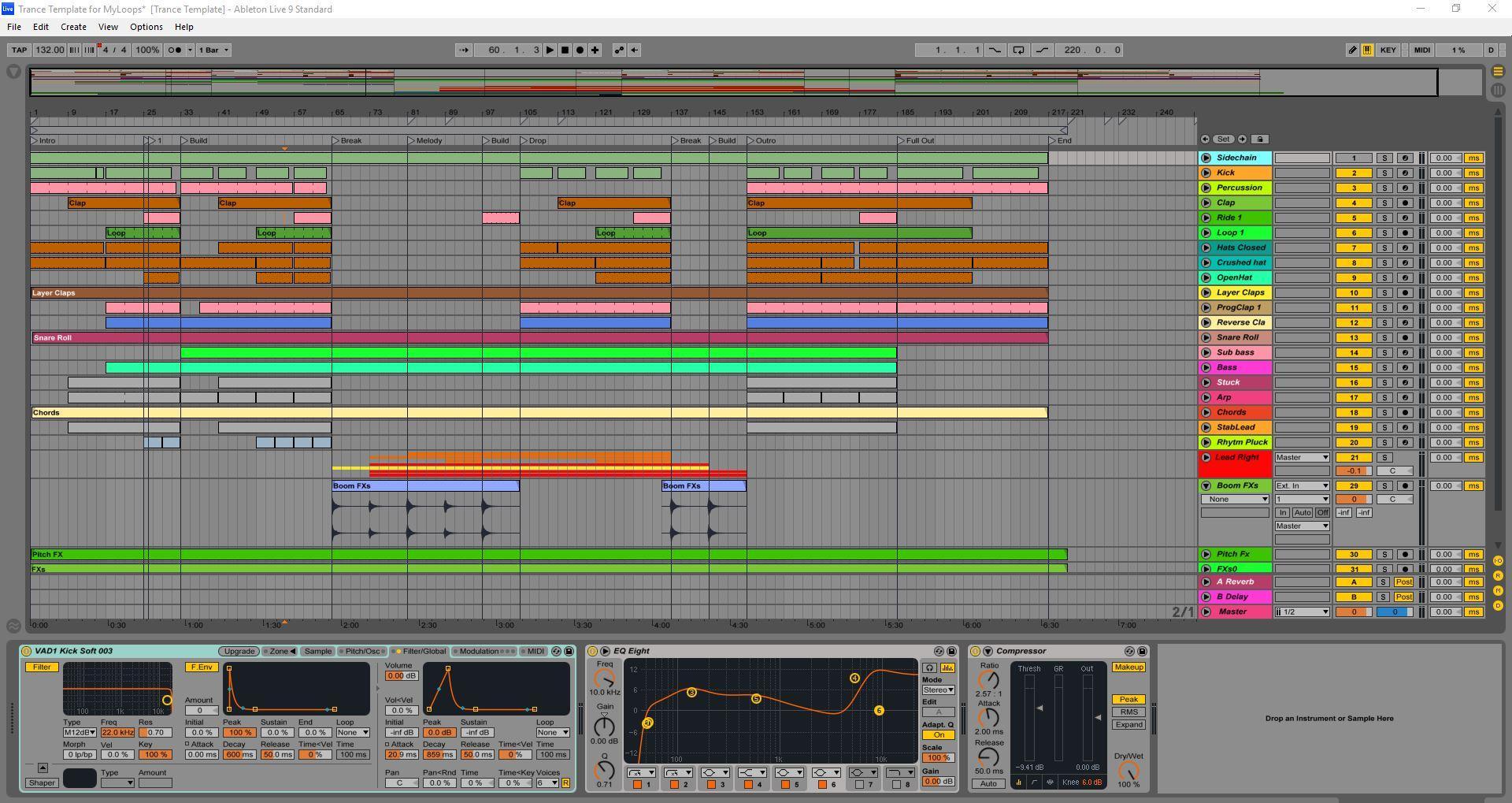 Trap - Ableton Live Templates