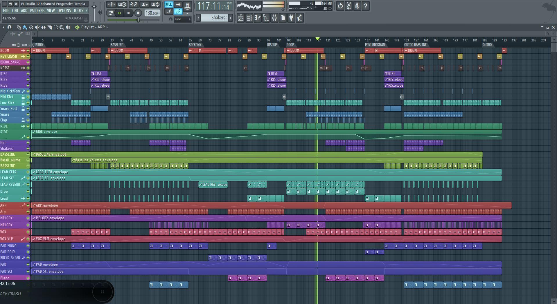 Enhanced Progressive Template For FL Studio 12 - Myloops
