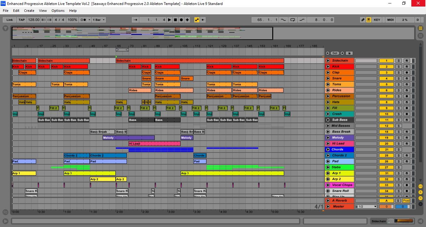 Enhanced Progressive Ableton Live Template Vol.2 By Seawayz