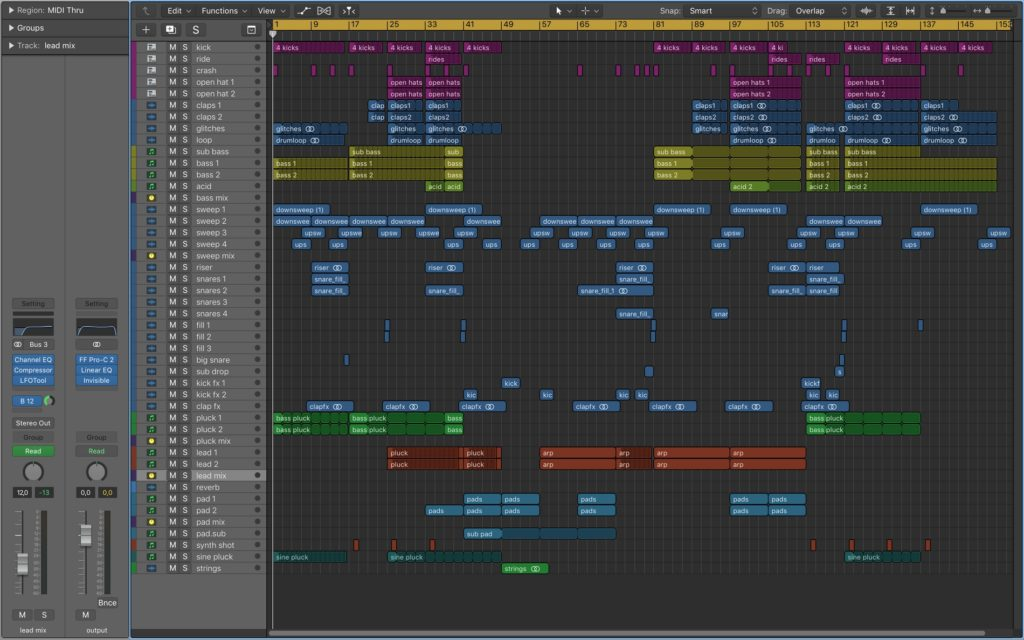 Thunderbolt - Logic Pro Template - Screenshot
