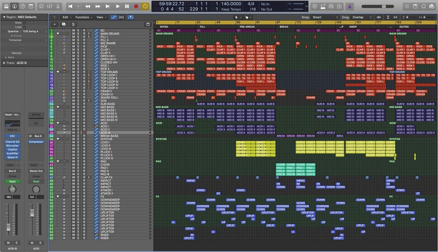 Reset Logic Pro X Template By Insight