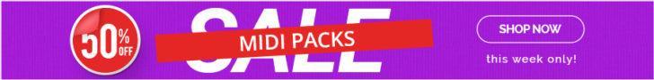 50% midi packs