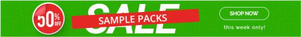 50% sample packs