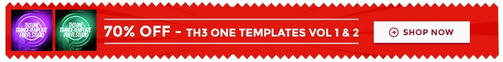 70 percent off TH3 ONE trance templates (1)