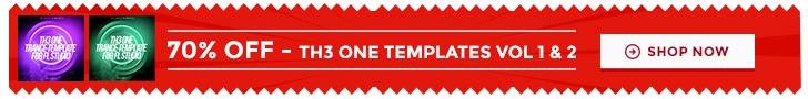 70 percent off TH3 ONE trance templates