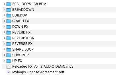 Reloaded FX Vol. 2 (1100+ Trance FX) Contents